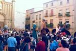 Els gegants de Calaf participen activament en la Festa Major