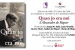 Es presenta una nova edició de 'Quan jo era noi', llibre d'Alexandre de Riquer