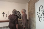 Ramon Puigpelat, Xavier Calvet, les germanes Prat i M. T. Huguet mostren les seves obres a Calaf
