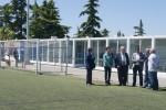 El president de la Diputació visita Calaf i el nou local social del camp de futbol