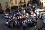 Els alumnes de l'institut Alexandre de Riquer se sumen a la celebració del Mil·lenari