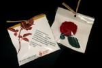 Des del projecte 'el bon veïnatge' regalen poemes i roses de ganxet per la diada