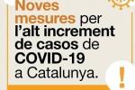 La Generalitat avança les noves mesures per reduir la interacció social i la mobilitat durant 15 dies