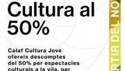 Els joves de Calaf gaudiran de descomptes del 50% per a les propostes culturals de la vila