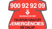 Nou telèfon gratuït d'emergències de Calaf