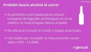 La Generalitat prohibeix el consum compartit d'alcohol al carrer a tot Catalunya