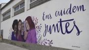Calaf es suma als actes del 25N Dia internacional per a l'eliminació de la violència envers les dones amb un mural