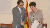 Artur Mas i l'alcaldessa M. Antònia Trullàs