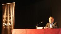 Mn. Pladevall en un moment de la conferència