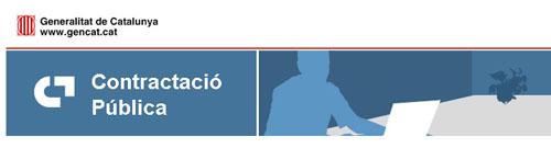 Imatge de part de la capçalera del Perfil de Contractant de la Generalitat de Catalunya
