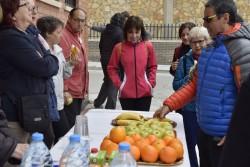 Avituallament a plaça Catalunya per l'Associació de Veïns la Pineda de Calaf