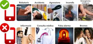 Quan i perquè trucar al telèfon d'emergències