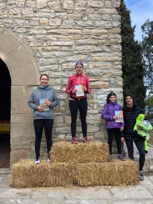 Guanyadores categoria femenina de la cursa curta (6,5km) - Tocats per la campana Calaf