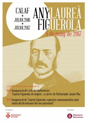 Cartell d'inauguració del cicle de ponències i l'exposició de l'Any Figuerola
