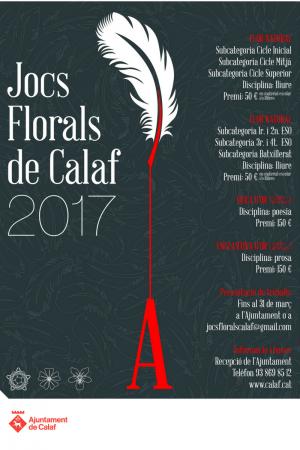 Cartell Jocs Florals 2017
