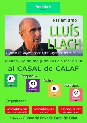 Cartell de l'acte de Lluís Llach a Calaf