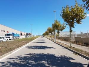 Zona polígon Les Garrigues per ubicar-hi futur aparcament provisional de camions Calaf