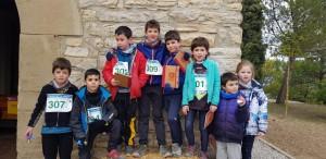 Participants a la cursa infantil  ' Tocats per la campana '