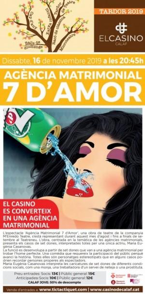 Teatre: Agència matrimonial 7 d'amor