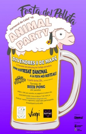Animal Party 8 de març 2019 Calaf