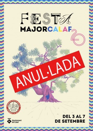 Anul·lada Festa Major Calaf setembre 2020