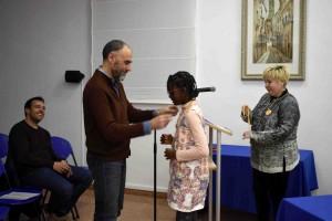 Imposició de medalles commemoratives als membres entrants