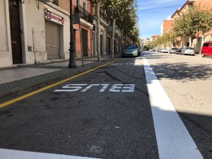 La nova parada de bus del Passeig Santa Calamanda
