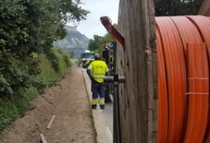 Desplegament cablejat fibra òptica a la xarxa carreteres Diputació BCN