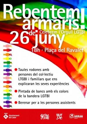 cartell Actes Dia Internacional Alliberament LGTBI a Calaf