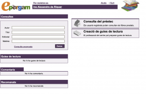ePèrgam - plataforma catàleg de biblioteques