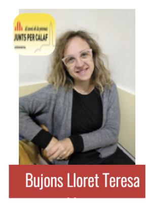 Teresa Maria Bujons: nova regidoria de Benestar Social, Gent Gran i Salut
