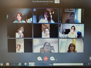 Reunió telemàtica taula serveis socials Calaf
