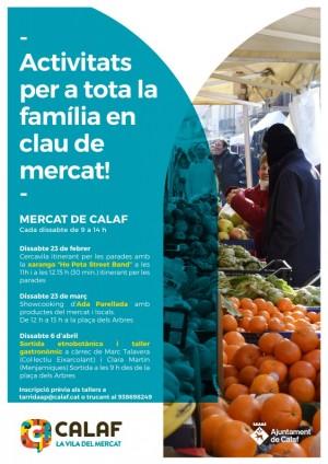 Cartell activitats al mercat de Calaf
