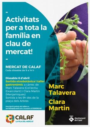Sortida etnobotànica i taller gastronòmic 6 d'abril al mercat de Calaf