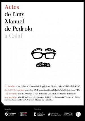 Cartell Actes Manuel de Pedrolo Calaf