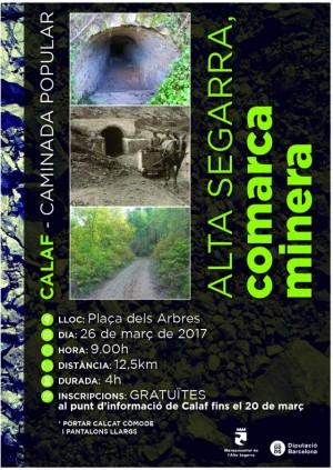 Cartell de la caminada 'Alta Segarra, comarca minera'