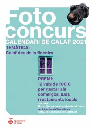 Cartell concurs de fotografia calendari Calaf 2021