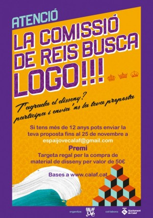 cartell concurs logo comissió de Reis de Calaf