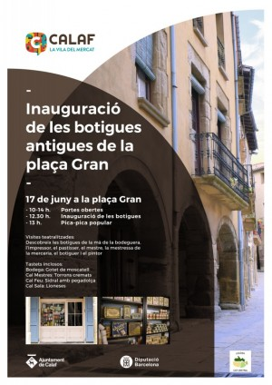 cartell inauguració botigues