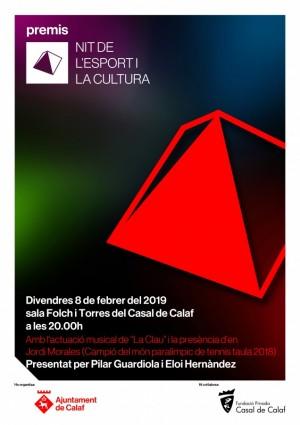 cartell Nit Esport i Cultura 2019