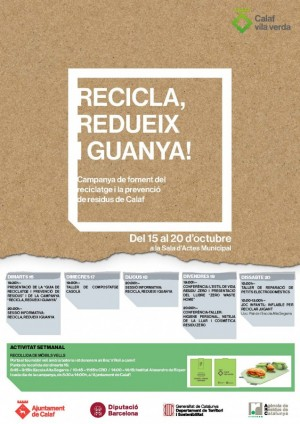 Cartell campanya, RECICLA, REDUEIX I GUANYA!