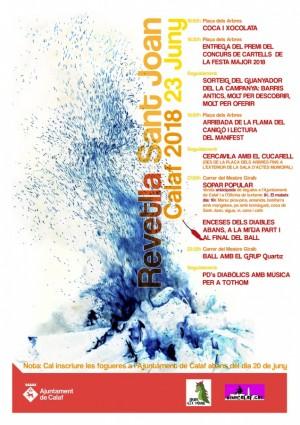 cartell revetlla Sant Joan  2018