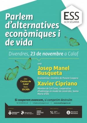 Xerrada Parlem d'alternatives econòmiques i de vida Calaf