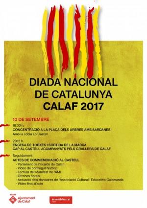 Calaf prepara diversos actes amb motiu de l'11 de Setembre