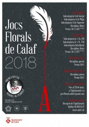 Cartell Jos Florals Calaf 2018