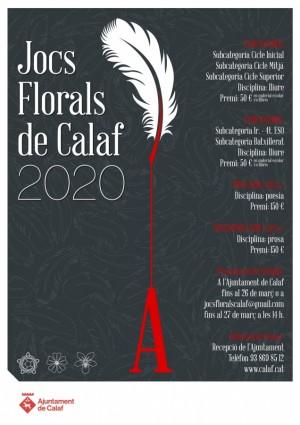 Cartell Jocs Florals 2020
