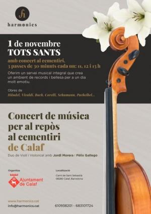 Actuacions harmònics - 1 de novembre cementiri Calaf