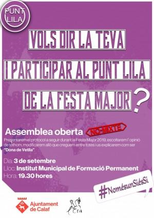 Assemblea Oberta per Punt Lila i Dona de Vetlla FM 2019