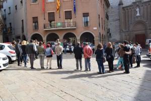 L'Ajuntament de Calaf s'ha unit a la concentració 17-O