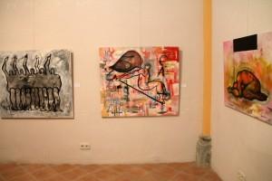 Algunes de les obres exposades a El sentiment de la urgència